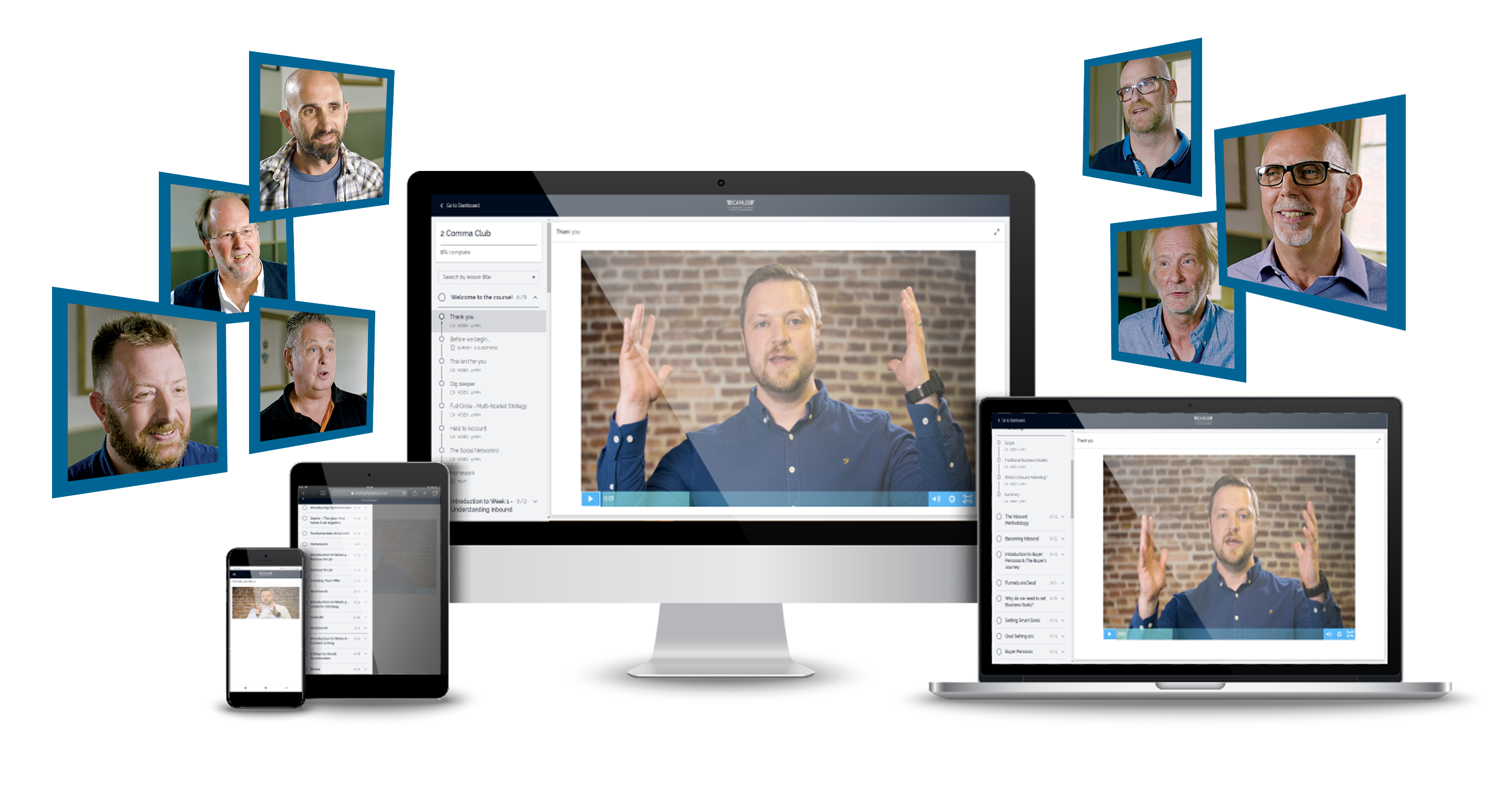 2 CC - E-Learning pictures with images of clients