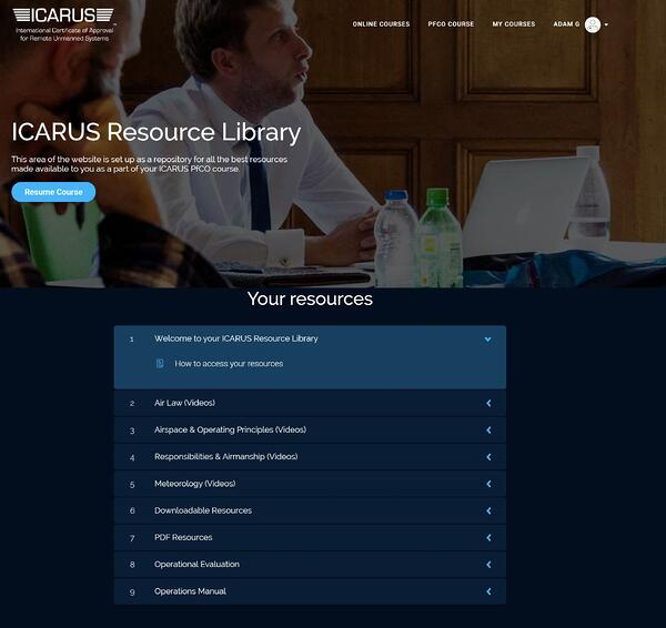 ICARUS E-Learning Resource Library