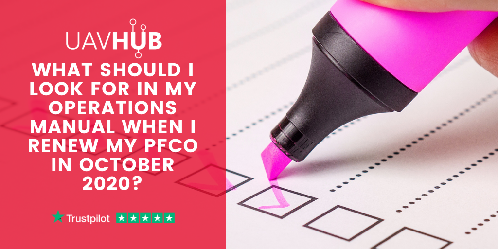 What should I look for in my Operations Manual when I renew my PfCO in October 2020_